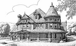 Victorian Style House Plans Plan: 58-265