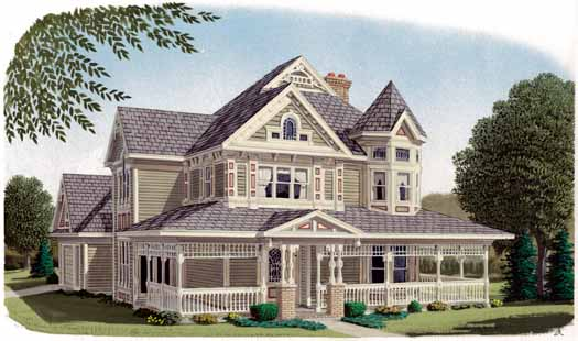 Victorian Style House Plans Plan: 58-266