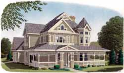 Victorian Style Floor Plans Plan: 58-266