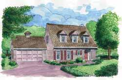 Cape-Cod Style Floor Plans Plan: 58-282
