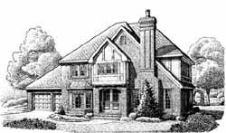 Tudor Style Floor Plans Plan: 58-291
