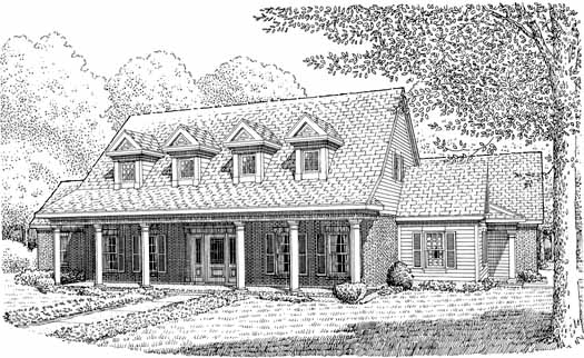 Country Style Home Design Plan: 58-298
