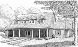 Country Style Floor Plans Plan: 58-298