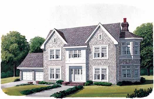 Cape-Cod Style House Plans Plan: 58-307