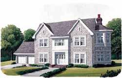 Cape-Cod Style Home Design Plan: 58-307