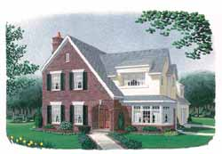 Colonial Style Floor Plans Plan: 58-325