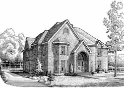 European Style House Plans Plan: 58-328