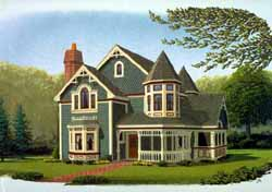 Victorian Style Home Design Plan: 58-330