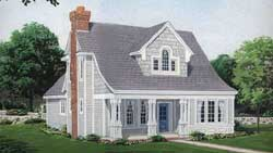 Country Style Home Design Plan: 58-332
