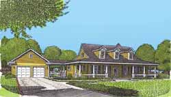 Country Style Home Design Plan: 58-339