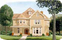 Victorian Style House Plans Plan: 58-340