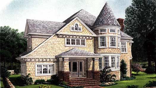 Victorian Style Floor Plans Plan: 58-347