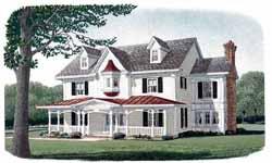 Victorian Style Home Design Plan: 58-355