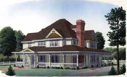 Victorian Style Home Design Plan: 58-358