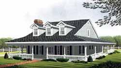Farm Style House Plans Plan: 58-365