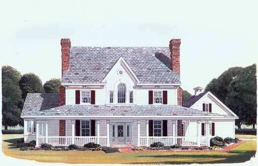 Farm Style Home Design Plan: 58-375