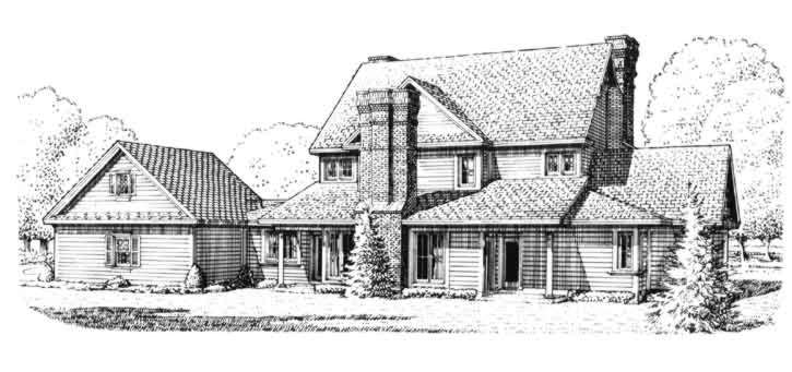 Rear Elevation Plan: 58-375