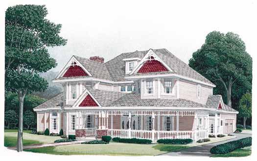 Victorian Style Home Design Plan: 58-380