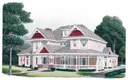 Victorian Style Floor Plans Plan: 58-380