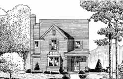 Colonial Style Home Design Plan: 58-408