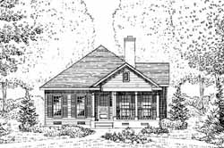 Southern-Colonial Style House Plans Plan: 58-413