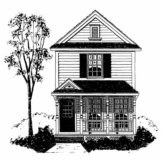 Southern-colonial Style Floor Plans Plan: 58-425
