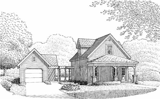 Country Style Home Design Plan: 58-430