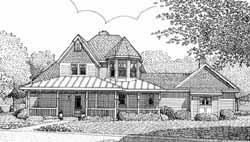 Tuscan Style Home Design Plan: 58-431