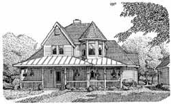Victorian Style House Plans Plan: 58-433