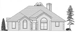 Traditional Style Home Design Plan: 59-105