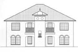 Mediterranean Style Home Design Plan: 59-114