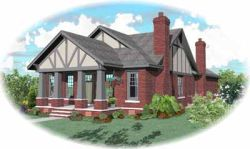 Craftsman Style Home Design Plan: 6-1001
