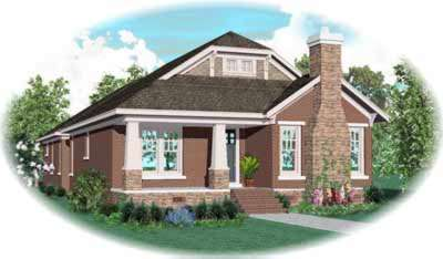 Bungalow Style Home Design Plan: 6-1004