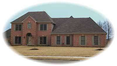 Traditional Style Home Design Plan: 6-1009