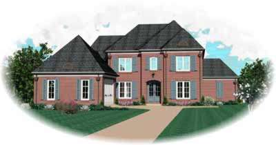 Traditional Style Home Design Plan: 6-1012