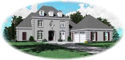 Mediterranean Style Home Design Plan: 6-1014