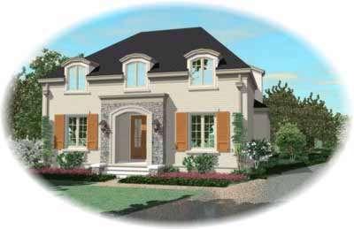European Style House Plans Plan: 6-1015