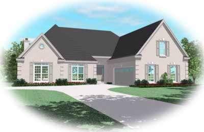 European Style House Plans Plan: 6-1016