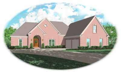 European Style House Plans Plan: 6-1019