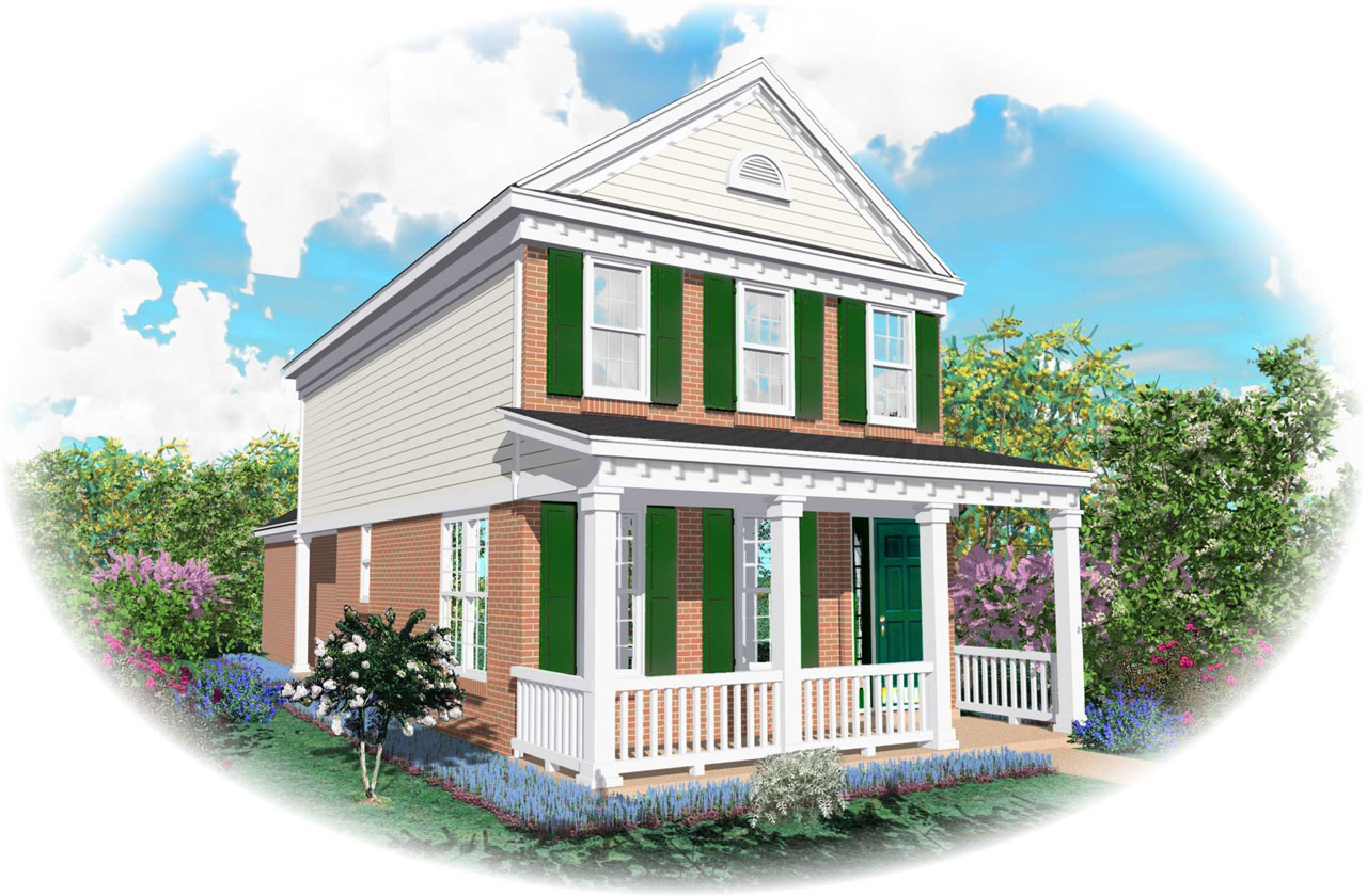 Southern Style Home Design Plan: 6-102