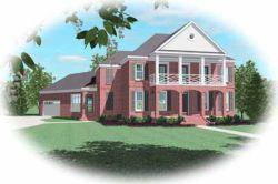 Plantation Style Home Design Plan: 6-1021