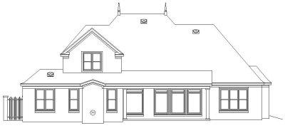 Rear Elevation Plan: 6-1025
