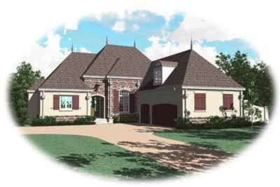 European Style House Plans Plan: 6-1027