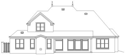 Rear Elevation Plan: 6-1027