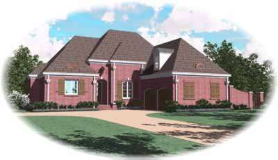 European Style House Plans Plan: 6-1028