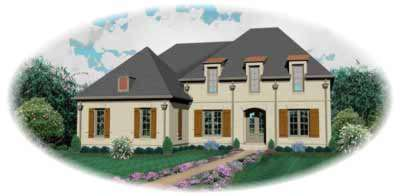 European Style House Plans Plan: 6-1045