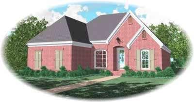 European Style House Plans Plan: 6-1047