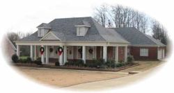 Southern Style Home Design Plan: 6-1054