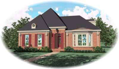 European Style House Plans Plan: 6-1056
