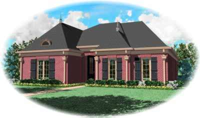European Style House Plans Plan: 6-1057